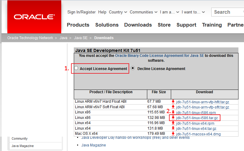 Downloading JDK 7 at Oracle.com